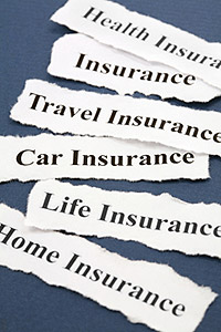 A photo showing different types of insurance